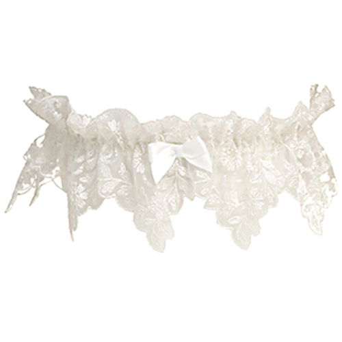 Garter with embroidery